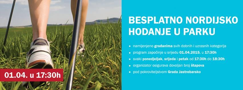 nordijsko hodanje plakat - baner